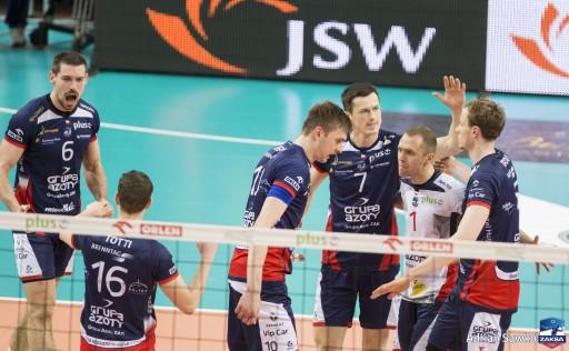 Pierwsze spotkanie półfinałowe zwyciężyła ZAKSA Kędzierzyn-Koźle
