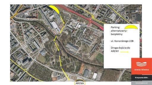 mapka-alternatywne-parkingi-15-stycznia-liga-mistrzow-arena-gliwice-01