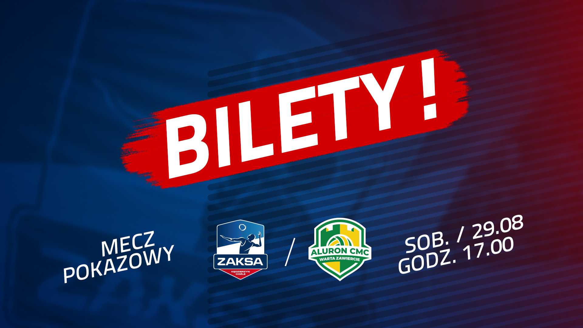Bilety na mecz Grupa Azoty ZAKSA Kędzierzyn-Koźle – Aluron CMC Warta Zawiercie