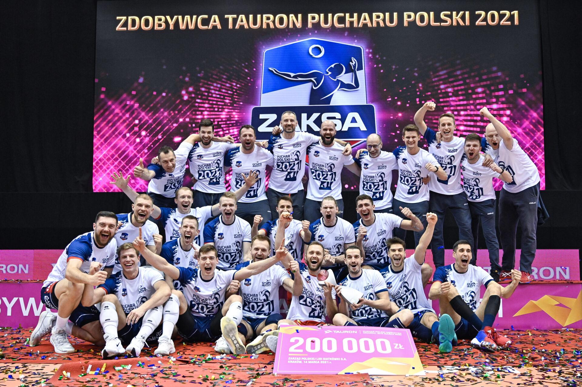 Grupa Azoty ZAKSA Kędzierzyn-Koźle zdobywcą Pucharu Polski fotogaleria