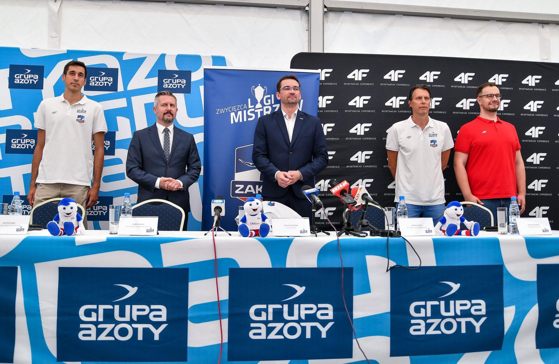 Konferencja prasowa z udziałem Głównego Sponsora i Właściciela Klubu wraz z oficjalną prezentacją nowego trenera Grupy Azoty ZAKSA Kędzierzyn-Koźle i nowego partnera technicznego